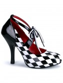 Womens Harlequin Shoes, halloween costume (Womens Harlequin Shoes)