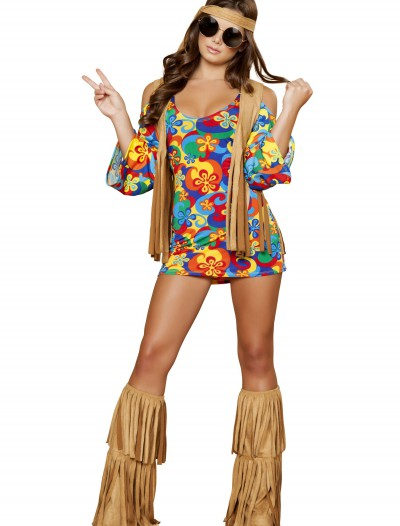 Womens Hippie Hottie Costume, halloween costume (Womens Hippie Hottie Costume)