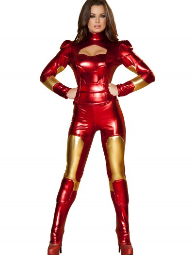 Womens Hot Metal Superhero Costume, halloween costume (Womens Hot Metal Superhero Costume)