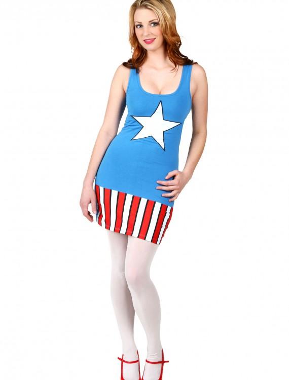 Womens I Am Captain America Tunic Tank, halloween costume (Womens I Am Captain America Tunic Tank)