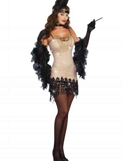 Women's Jazzy Jezebel Flapper Costume, halloween costume (Women's Jazzy Jezebel Flapper Costume)