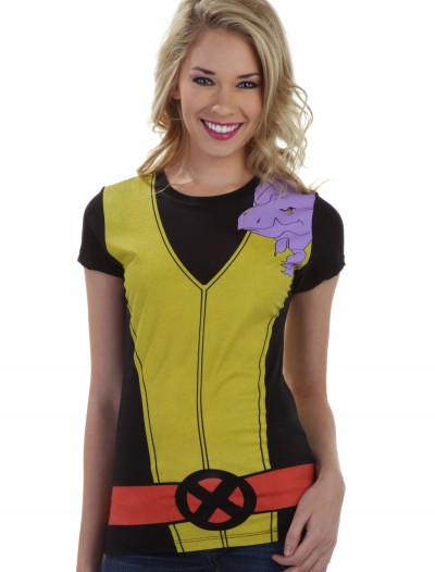 Womens Kitty Pryde Lockheed Costume T-Shirt, halloween costume (Womens Kitty Pryde Lockheed Costume T-Shirt)