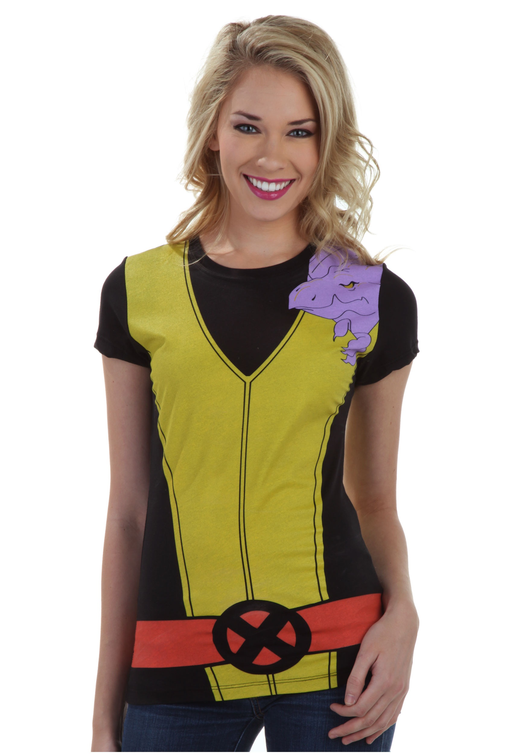 Womens kitty pryde lockheed costume t shirt halloween for Costume t shirts online