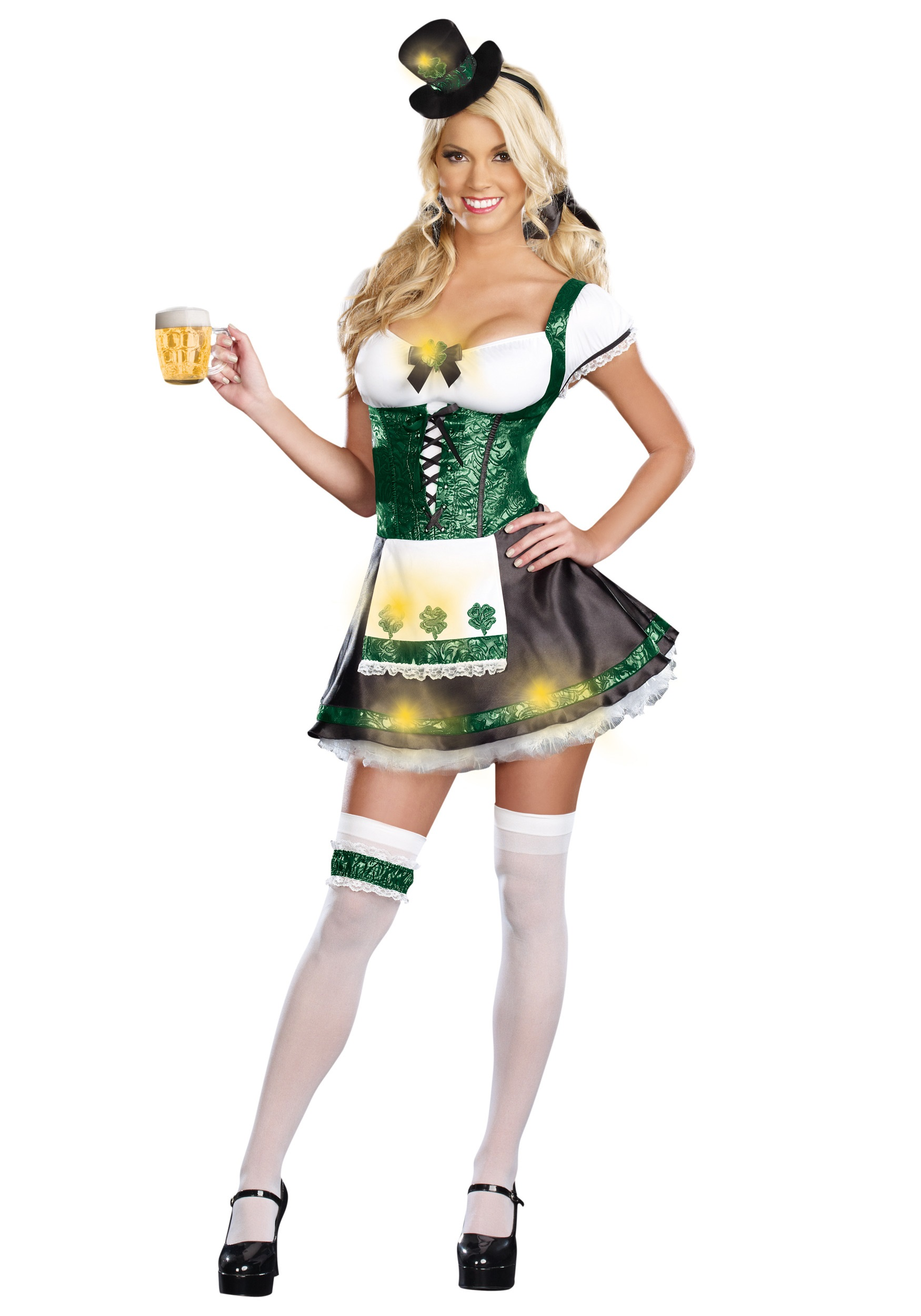 Womenu0027s Lady Luck Costume  sc 1 st  Halloween Costumes : leprechaun costume for women  - Germanpascual.Com