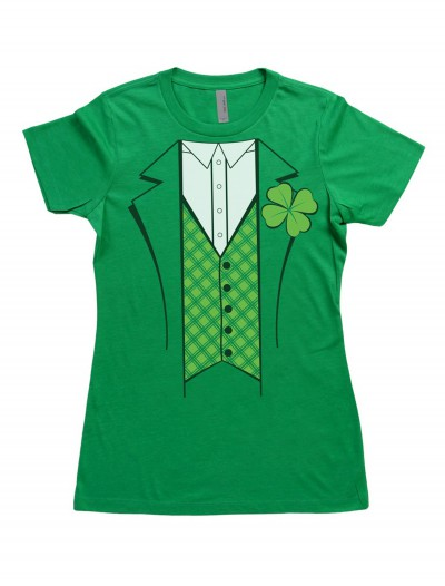 Womens Leprechaun Costume T-Shirt, halloween costume (Womens Leprechaun Costume T-Shirt)