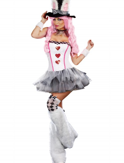 Womens Lost in Wonderland Rabbit Costume, halloween costume (Womens Lost in Wonderland Rabbit Costume)