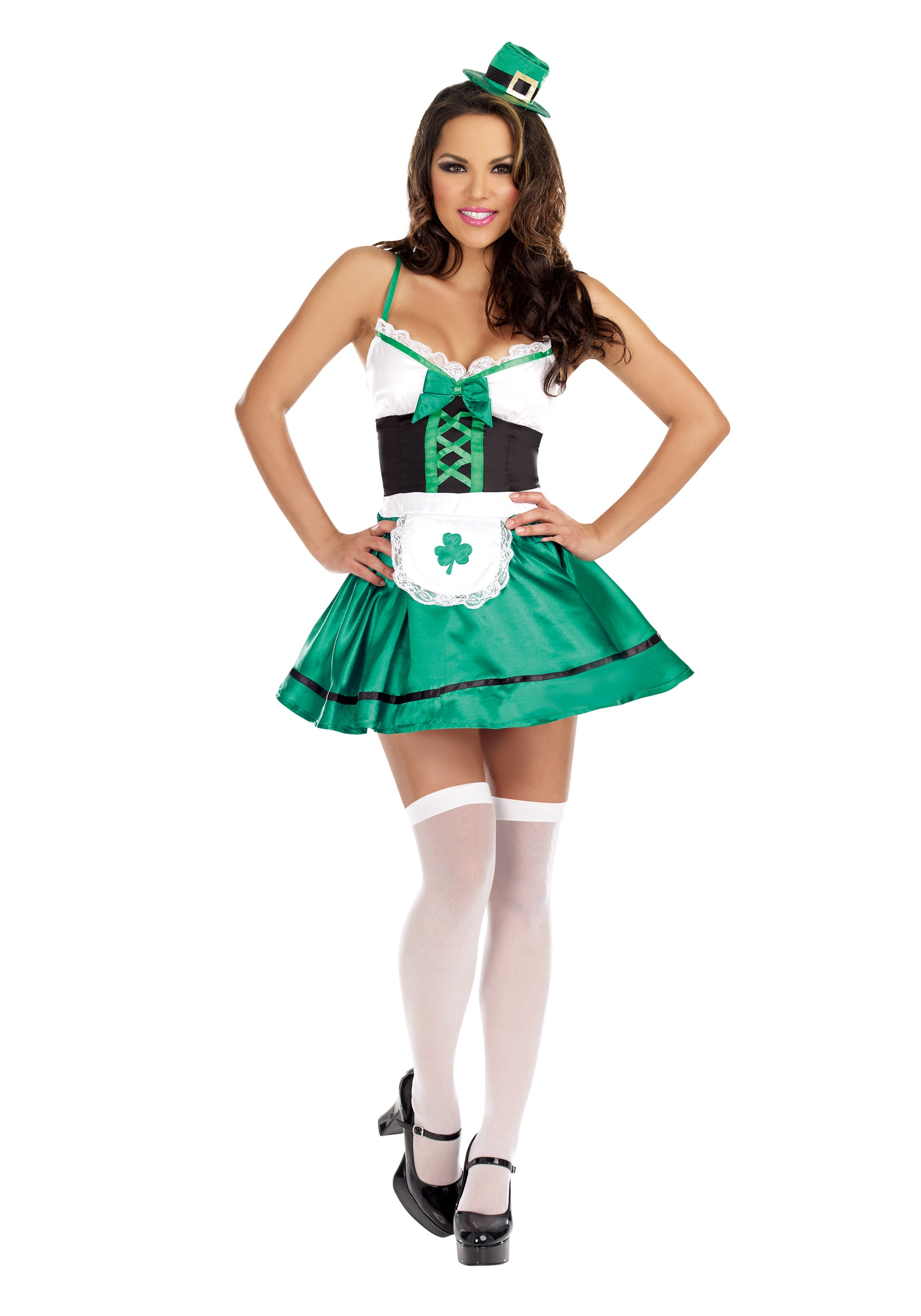 Womenu0027s Lucky You Leprechaun Costume  sc 1 st  Halloween Costumes : costums for women  - Germanpascual.Com