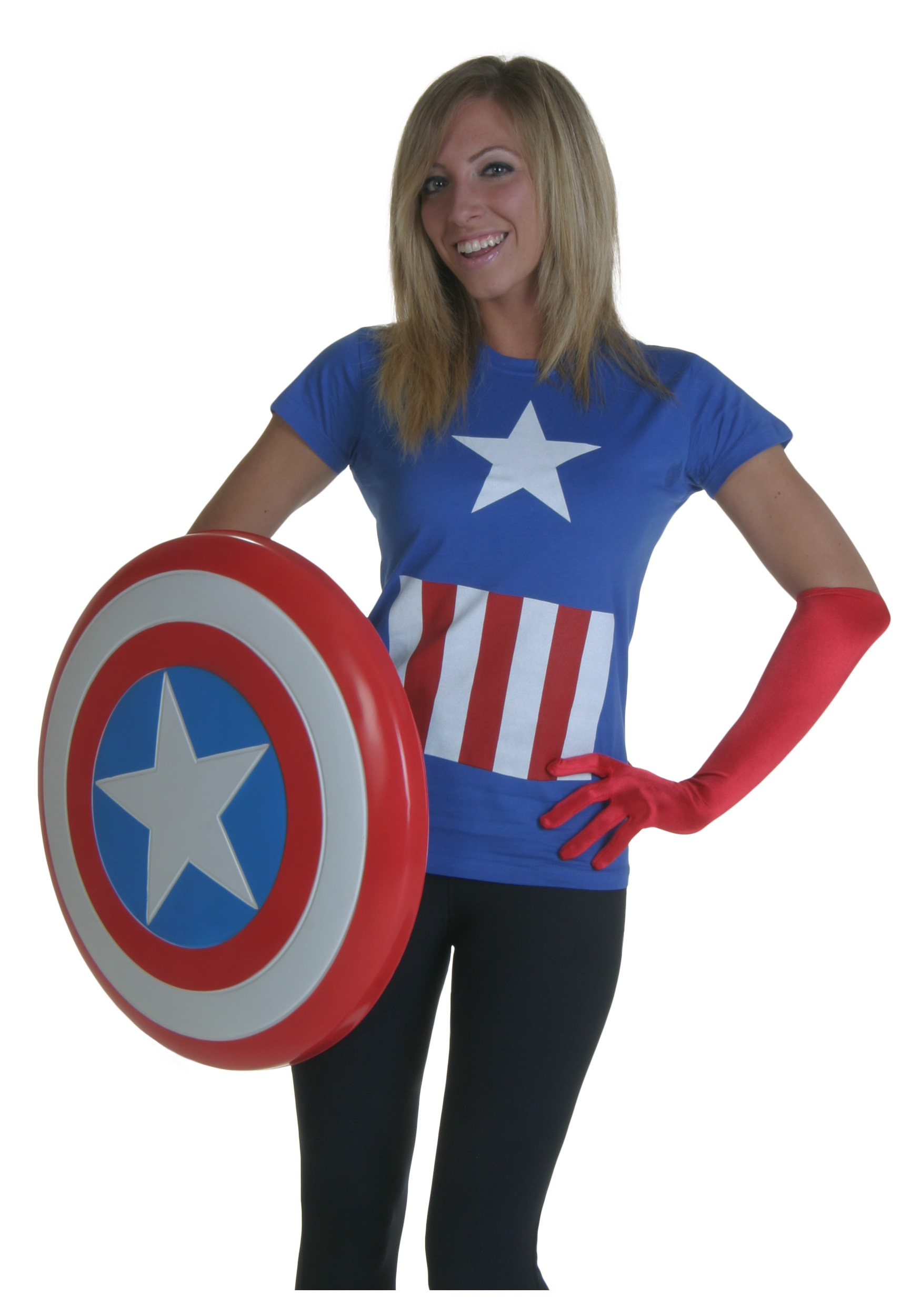 womens marvel captain america t-shirt - halloween costumes
