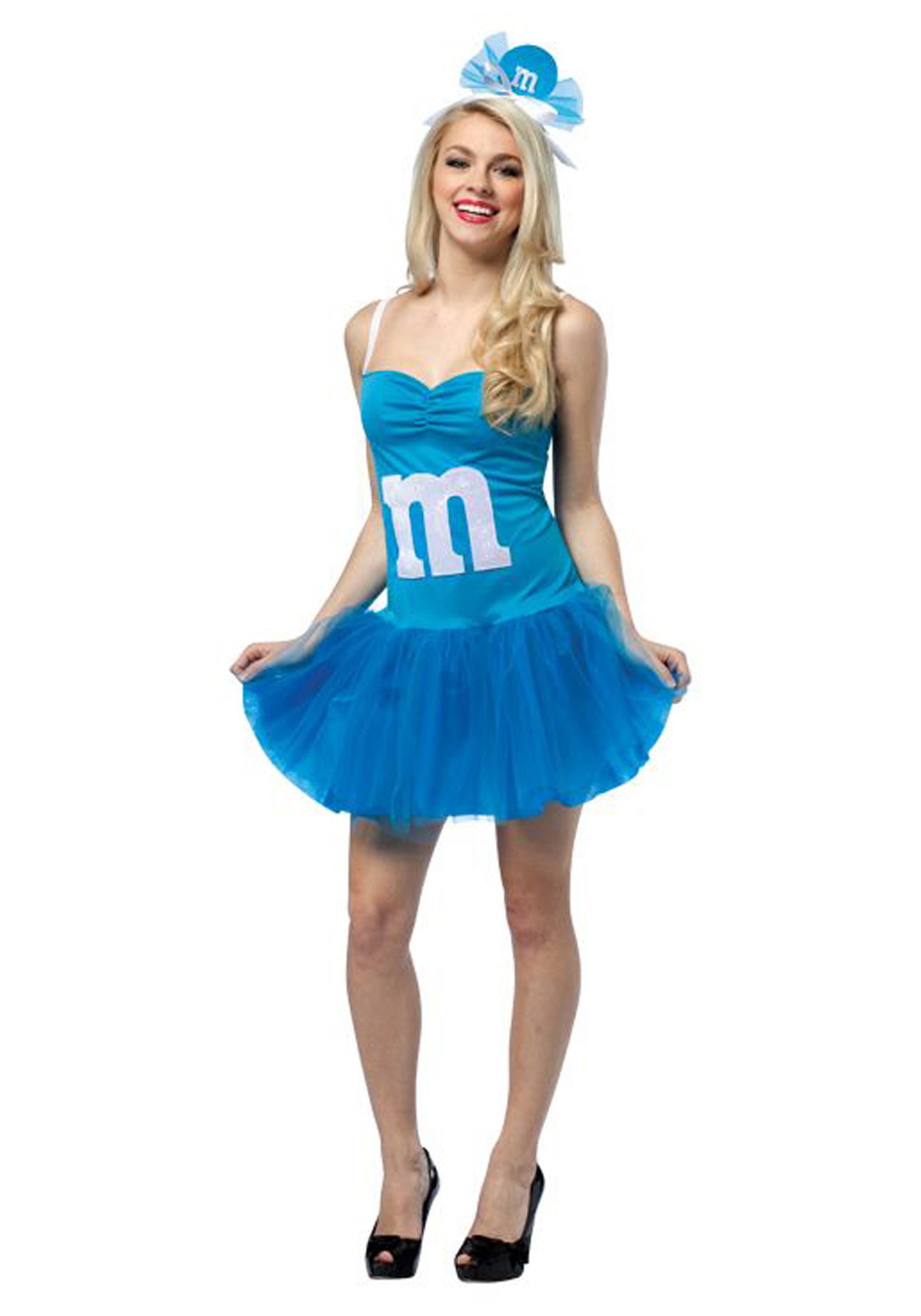 Womens M&M Blue Party Dress - Halloween Costumes