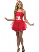 Women's M&M Red Party Dress, halloween costume (Women's M&M Red Party Dress)