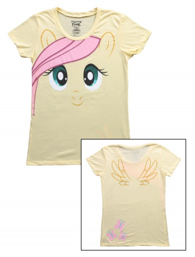 Womens My Little Pony Fluttershy Face T-Shirt, halloween costume (Womens My Little Pony Fluttershy Face T-Shirt)