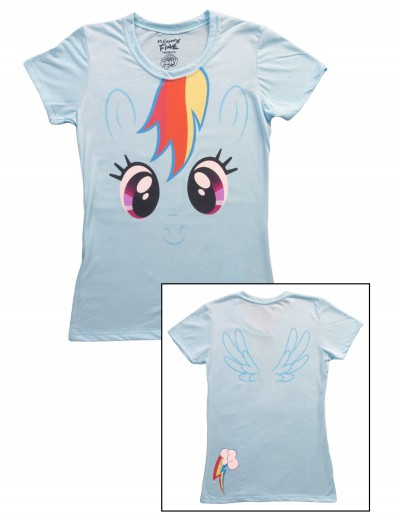 Womens My Little Pony Rainbow Dash T-Shirt, halloween costume (Womens My Little Pony Rainbow Dash T-Shirt)