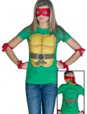 Womens Ninja Turtle T-Shirt, halloween costume (Womens Ninja Turtle T-Shirt)