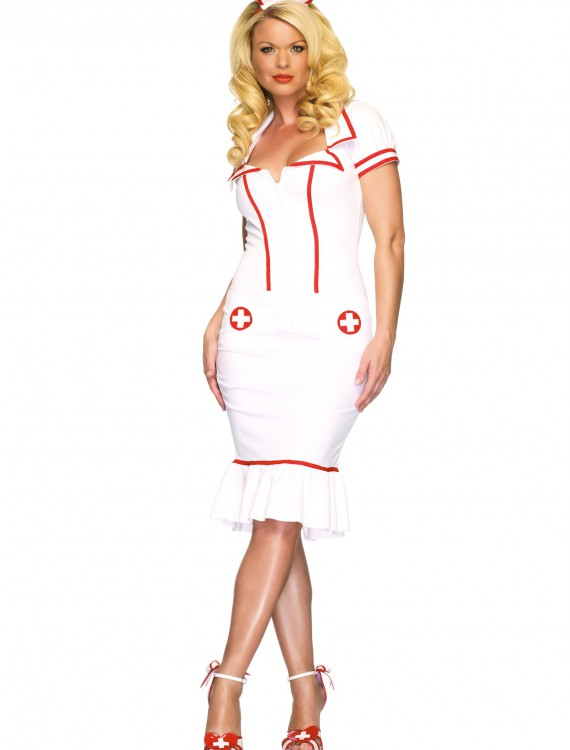 Womens Nurse Costume, halloween costume (Womens Nurse Costume)
