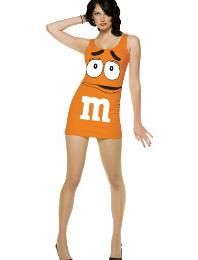 Womens Orange M&M Costume, halloween costume (Womens Orange M&M Costume)