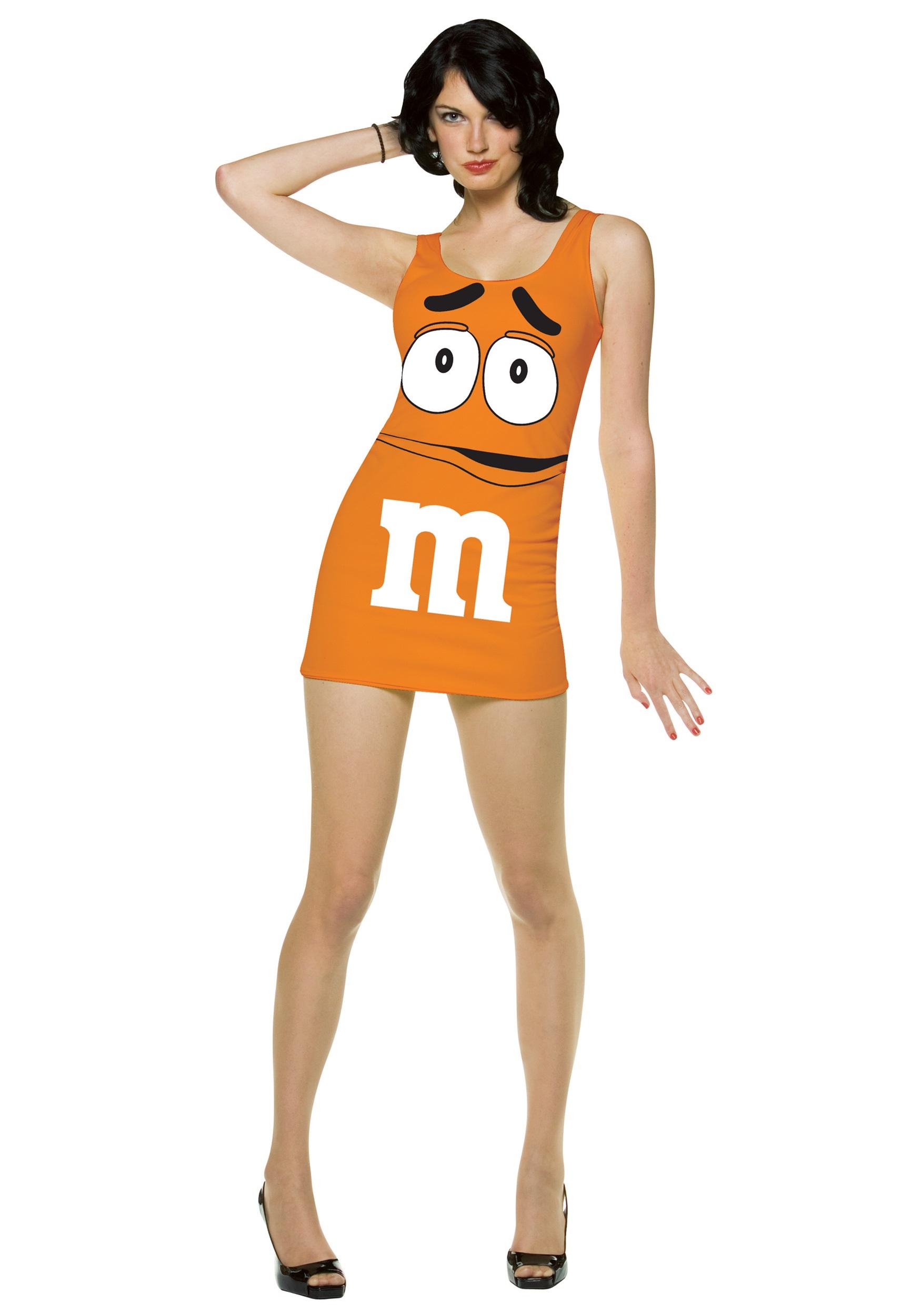 Womens Orange Mu0026M Costume - Halloween Costumes