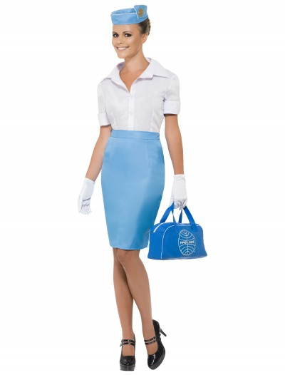 Women's Pan Am Flight Attendant Costume, halloween costume (Women's Pan Am Flight Attendant Costume)