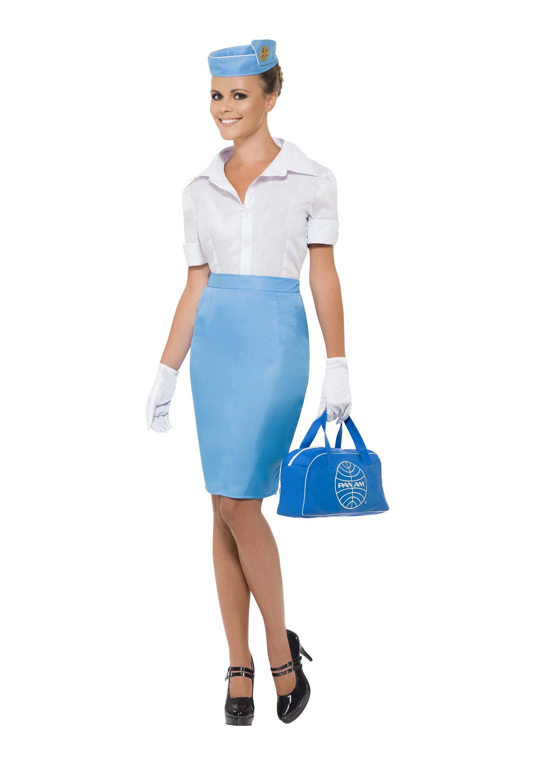 Womenu0027s Pan Am Flight Attendant Costume  sc 1 st  Halloween Costumes & Womenu0027s Pan Am Flight Attendant Costume - Halloween Costumes