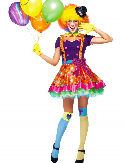 Womens Party Clown Costume, halloween costume (Womens Party Clown Costume)