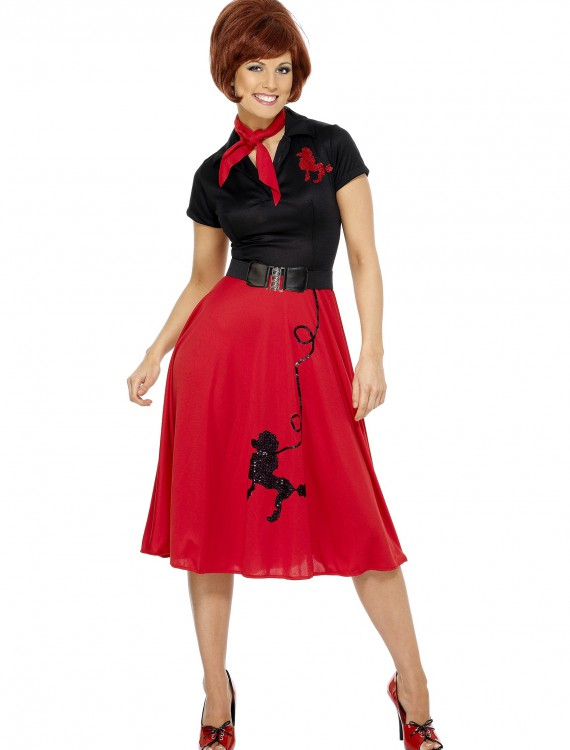 Women's Plus Size 50s-Style Poodle Skirt Costume, halloween costume (Women's Plus Size 50s-Style Poodle Skirt Costume)