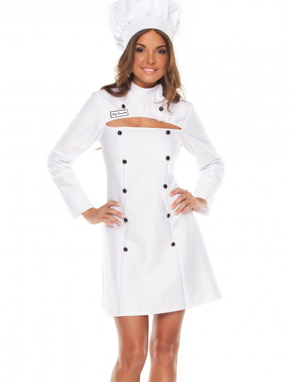 Womens Plus Size Chef Costume, halloween costume (Womens Plus Size Chef Costume)