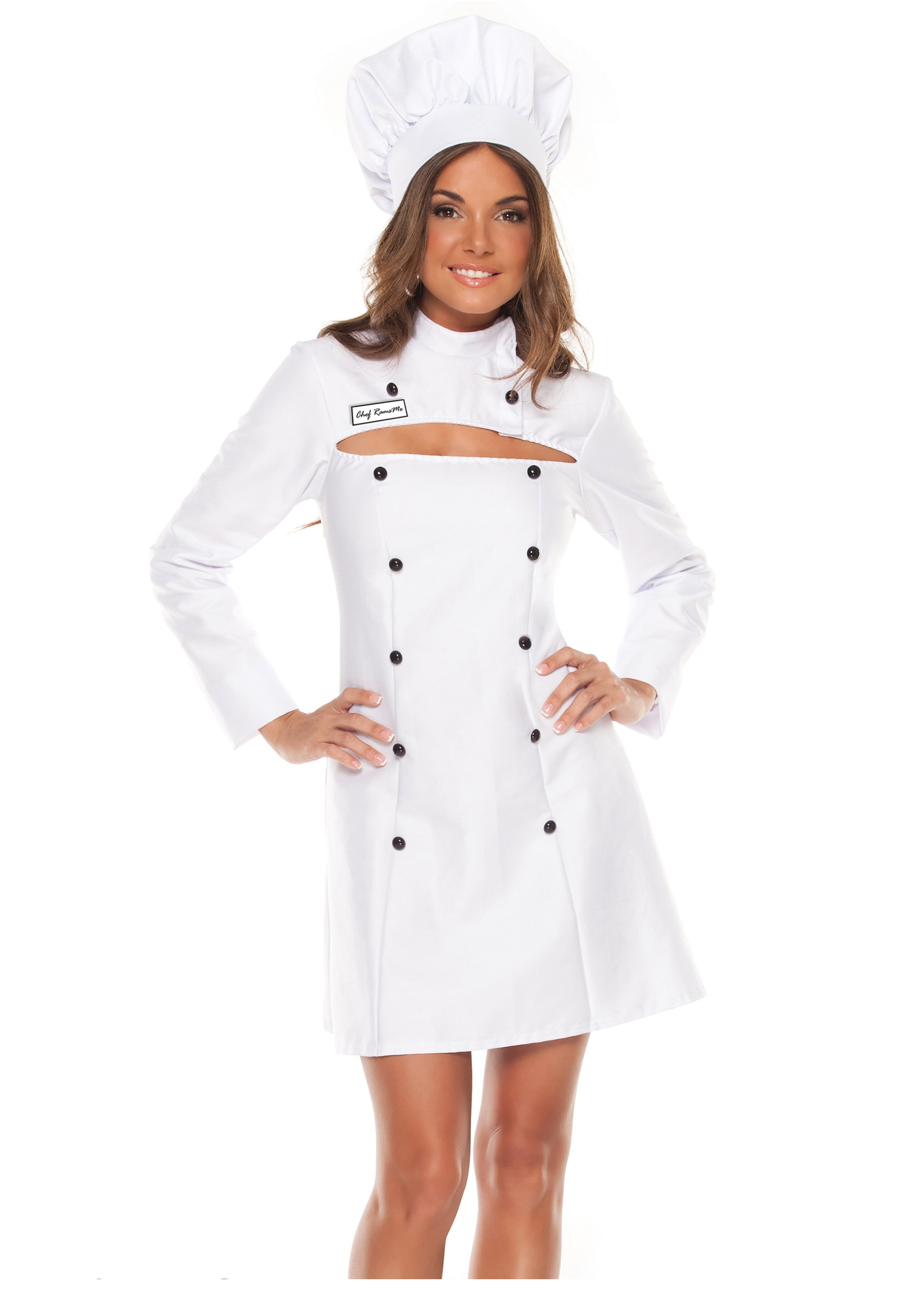 Womens Plus Size Chef Costume  sc 1 st  Halloween Costumes : chef halloween costumes  - Germanpascual.Com