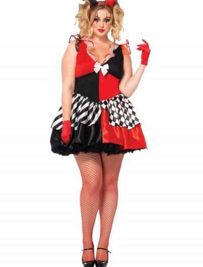 Women's Plus Size Court Jester Costume, halloween costume (Women's Plus Size Court Jester Costume)