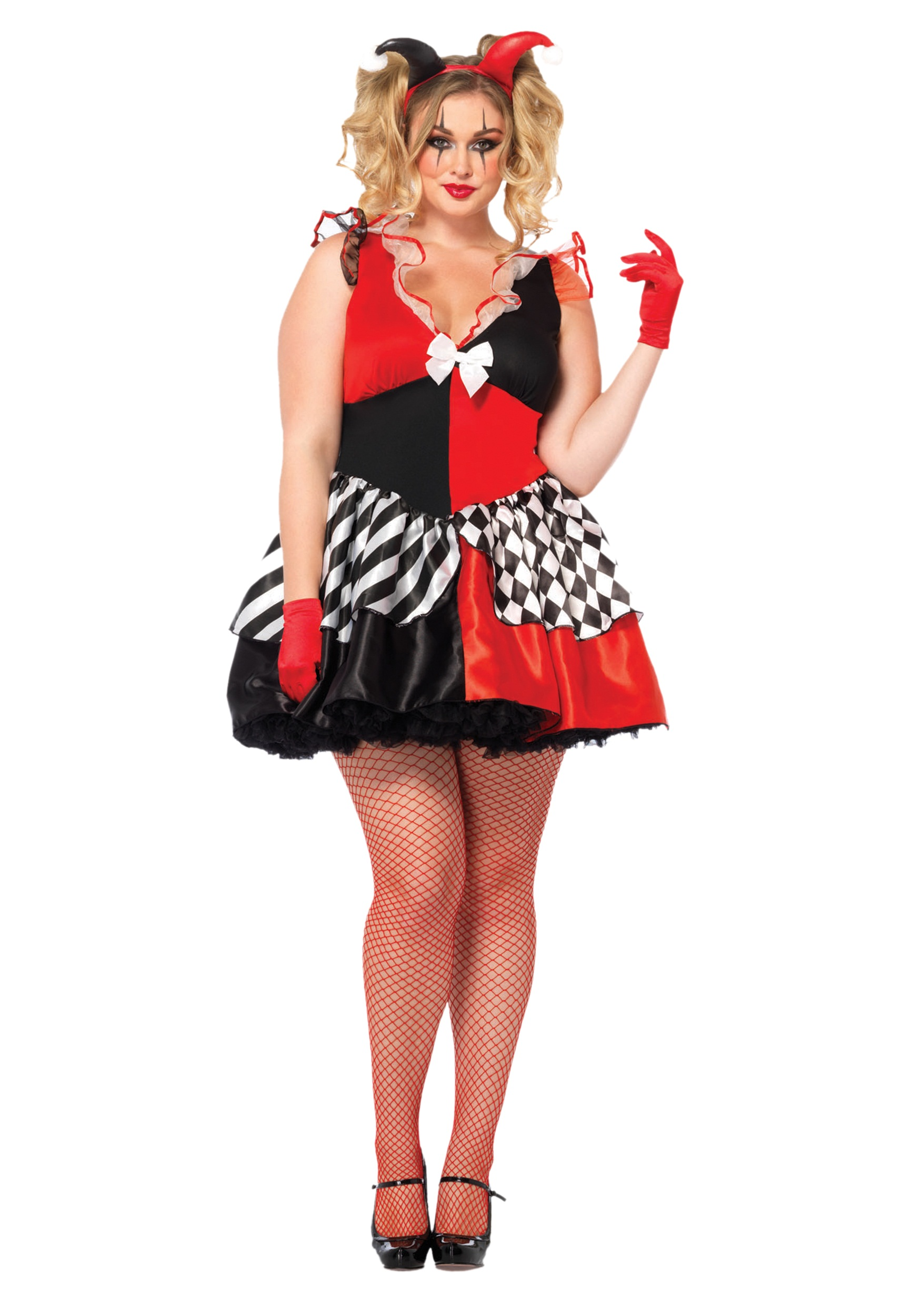 womens plus size court jester costume