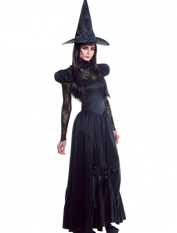 Women's Plus Size Emerald Witch Costume, halloween costume (Women's Plus Size Emerald Witch Costume)