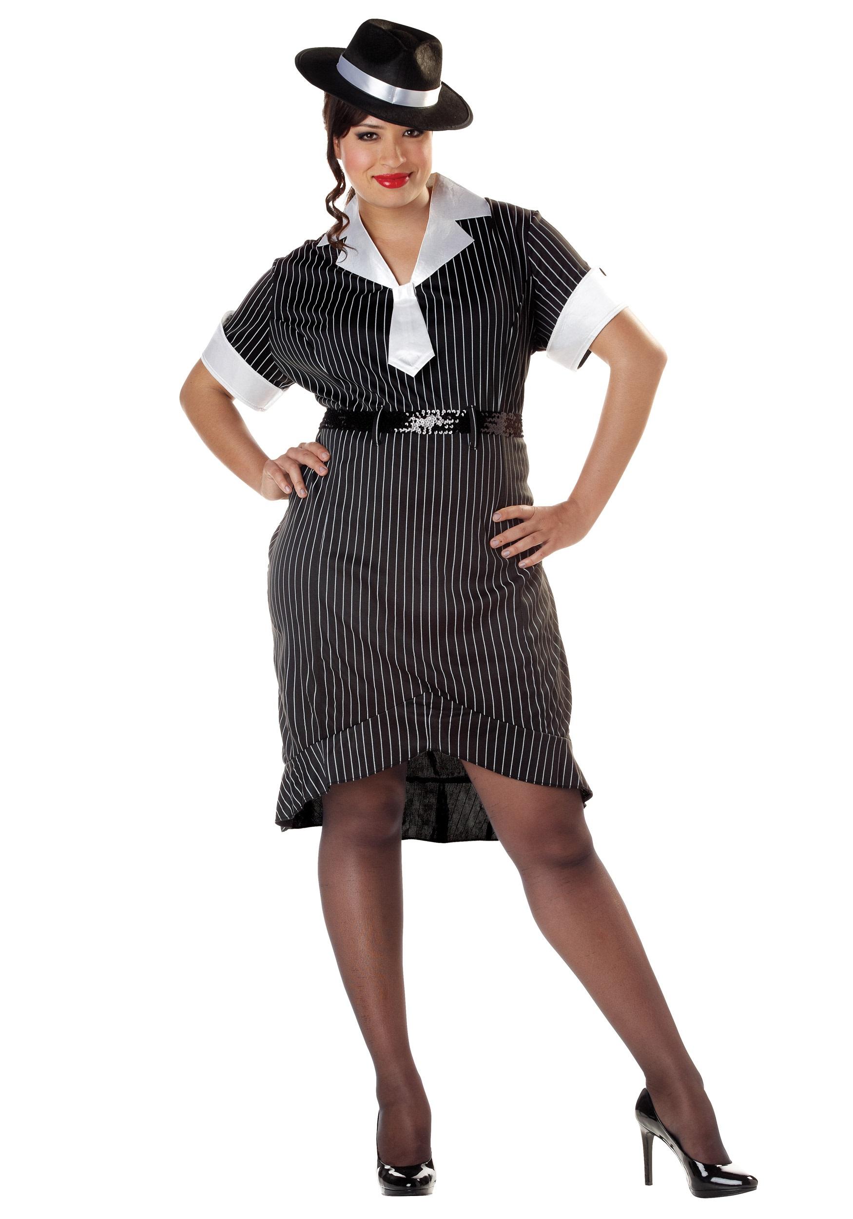 Womenu0027s Plus Size Flirty Gangster Costume  sc 1 st  Halloween Costumes & Womenu0027s Plus Size Flirty Gangster Costume - Halloween Costumes