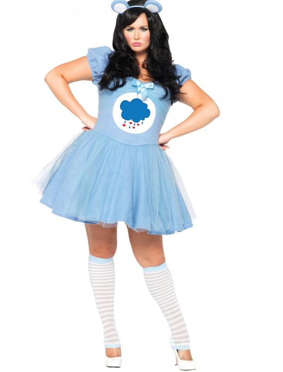 Plus Size Care Bears Grumpy Bear Costume, halloween costume (Plus Size Care Bears Grumpy Bear Costume)