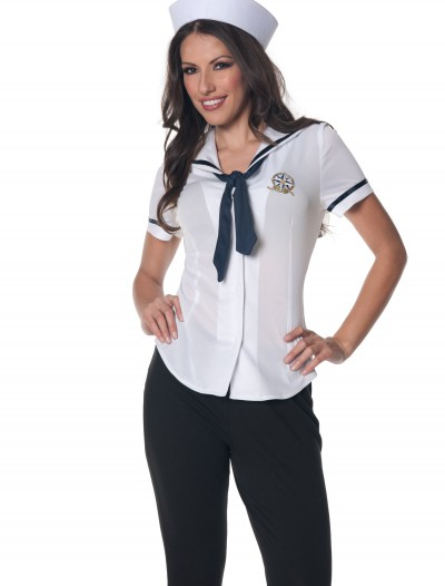 Women's Plus Size Sailor Shirt, halloween costume (Women's Plus Size Sailor Shirt)