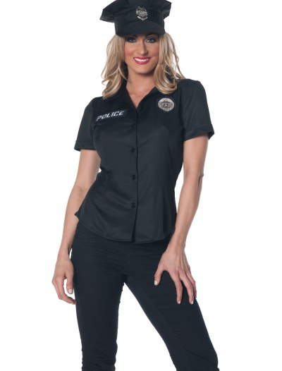 Women's Police Shirt Costume, halloween costume (Women's Police Shirt Costume)