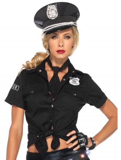 Womens Police Shirt & Tie, halloween costume (Womens Police Shirt & Tie)