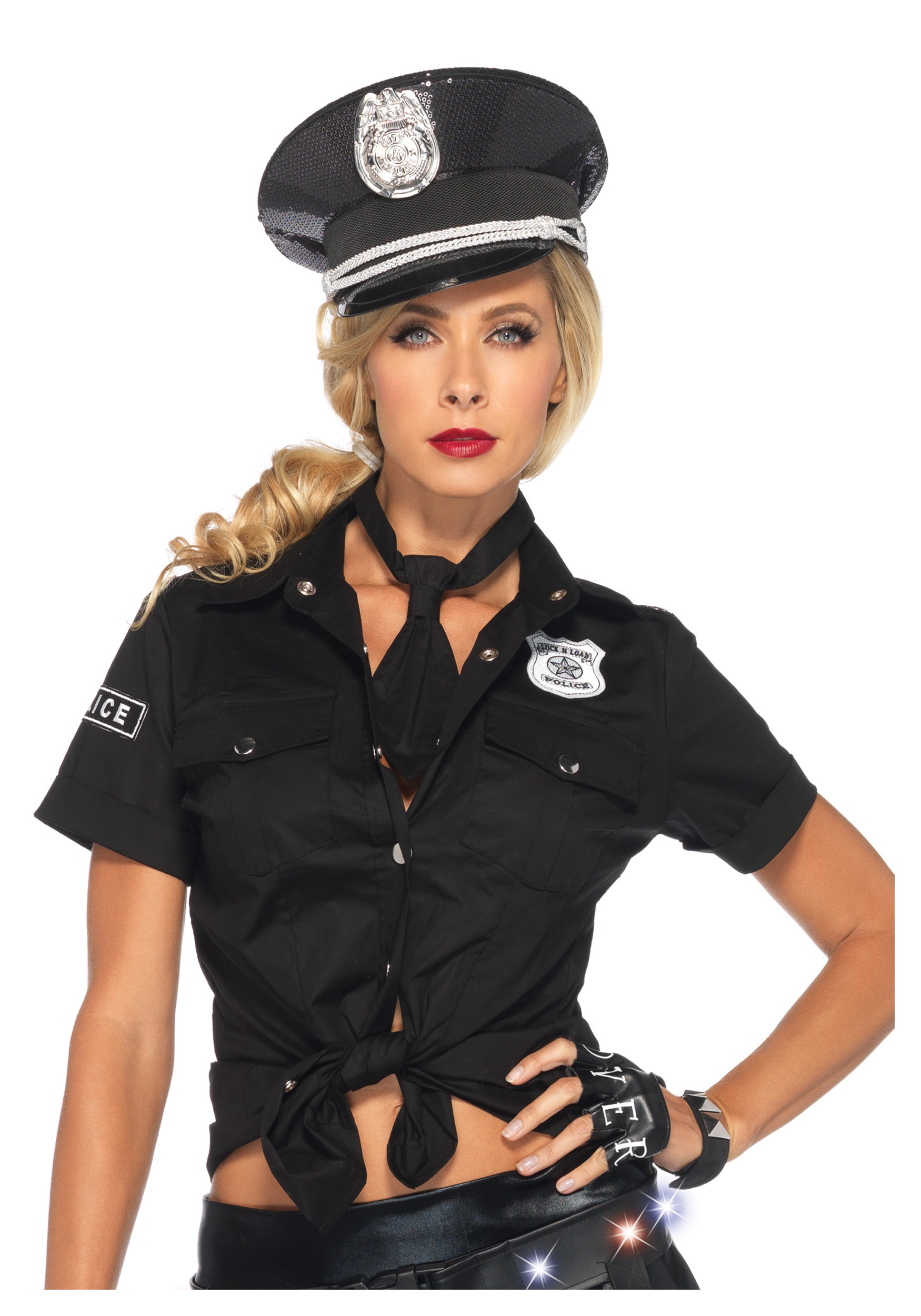 Womens Police Shirt u0026 Tie  sc 1 st  Halloween Costumes & Womens Police Shirt u0026 Tie - Halloween Costumes