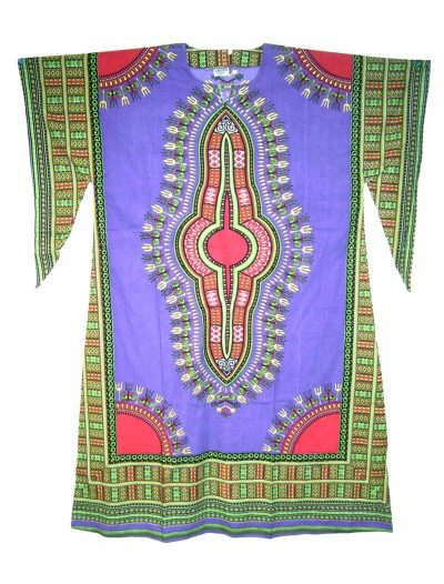 Women's Purple Long Dashiki Dress, halloween costume (Women's Purple Long Dashiki Dress)