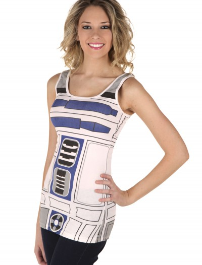 Womens R2D2 Tank Top, halloween costume (Womens R2D2 Tank Top)
