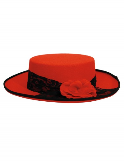 Women's Red Day of the Dead Hat, halloween costume (Women's Red Day of the Dead Hat)