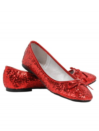Women's Red Glitter Flats, halloween costume (Women's Red Glitter Flats)