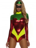 Womens Red Superhero Accomplice Costume, halloween costume (Womens Red Superhero Accomplice Costume)