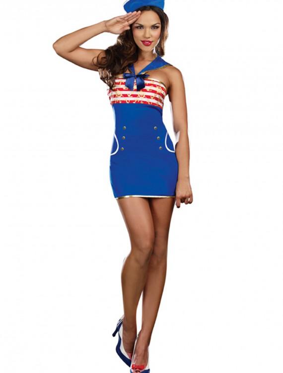 Women's Ridin' Waves Sailor Costume, halloween costume (Women's Ridin' Waves Sailor Costume)