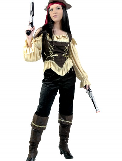 Womens Rustic Pirate Costume, halloween costume (Womens Rustic Pirate Costume)