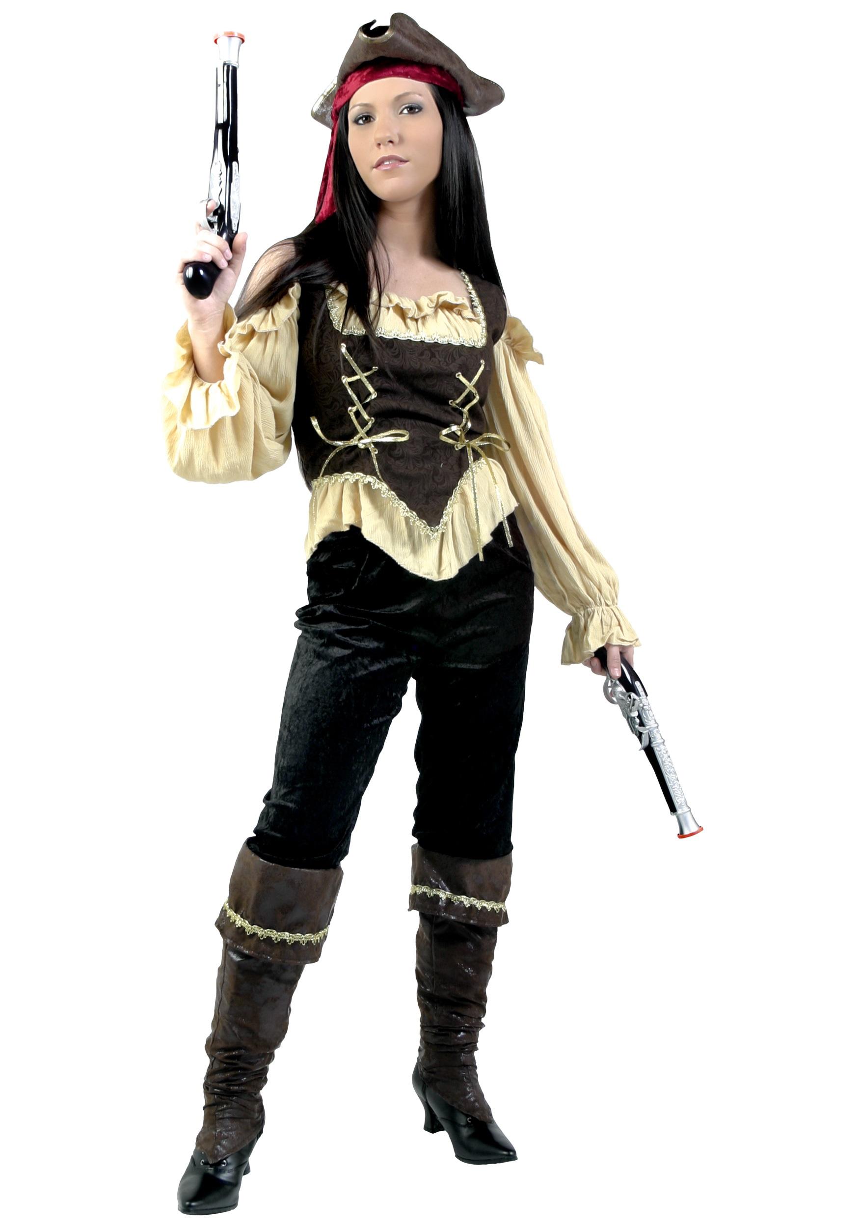 Womens Rustic Pirate Costume - Halloween Costumes