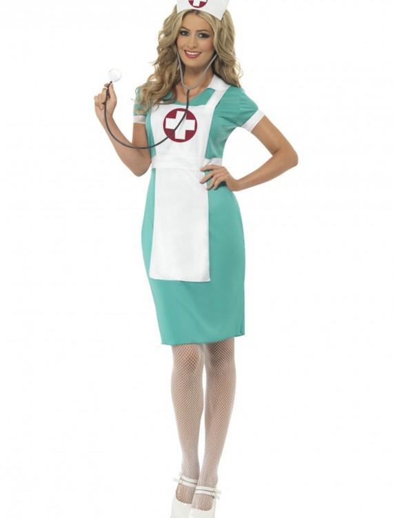 Womens Scrub Nurse Costume, halloween costume (Womens Scrub Nurse Costume)