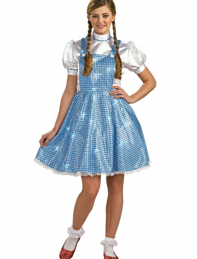 Womens Sequin Dorothy Costume, halloween costume (Womens Sequin Dorothy Costume)
