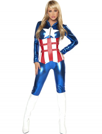 Womens Sexy American Hero Costume, halloween costume (Womens Sexy American Hero Costume)
