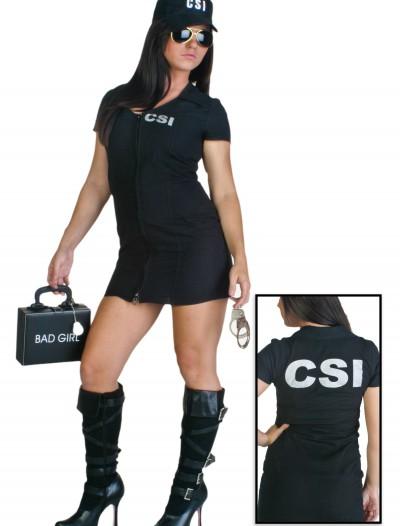 Women's Sexy CSI Costume, halloween costume (Women's Sexy CSI Costume)