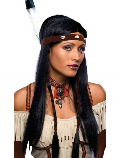 Women's Sexy Indian Wig, halloween costume (Women's Sexy Indian Wig)