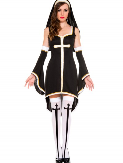 Women's Sinfully Hot Nun Costume, halloween costume (Women's Sinfully Hot Nun Costume)