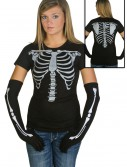 Womens Skeleton Costume T-Shirt, halloween costume (Womens Skeleton Costume T-Shirt)